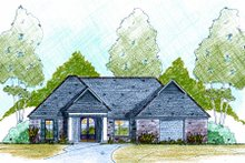 Home Plan - European Exterior - Front Elevation Plan #36-482