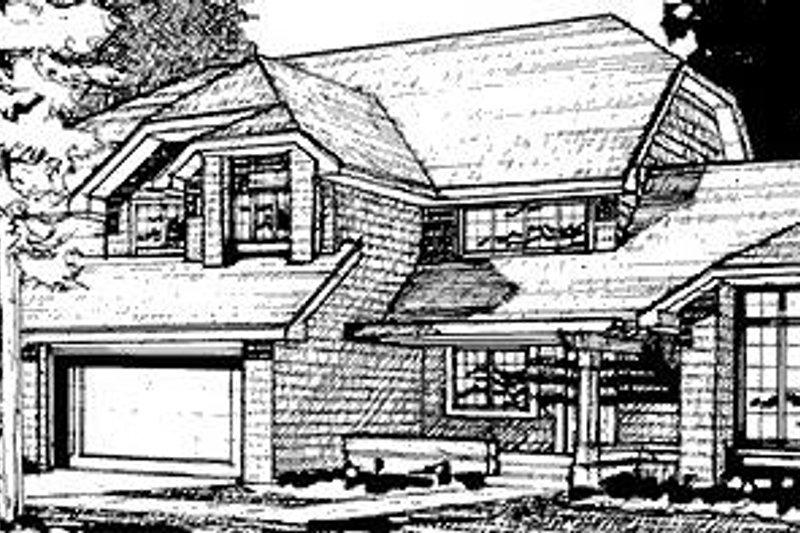 Country Exterior - Front Elevation Plan #320-468 - Houseplans.com