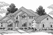 Dream House Plan - Traditional Exterior - Front Elevation Plan #70-508