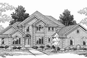 Traditional Exterior - Front Elevation Plan #70-508
