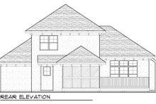 Home Plan - Bungalow Exterior - Rear Elevation Plan #70-973