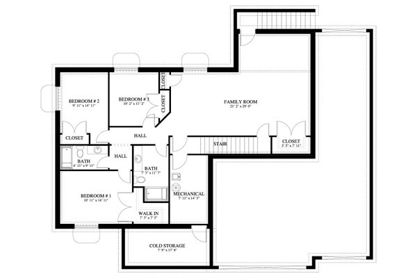 House Plan Design - Traditional Floor Plan - Lower Floor Plan #1060-60