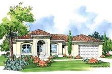 Home Plan - Mediterranean Exterior - Front Elevation Plan #930-373