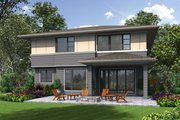 Contemporary Style House Plan - 4 Beds 2.5 Baths 2874 Sq/Ft Plan #48-705 Exterior - Rear Elevation