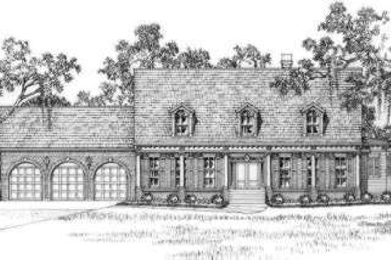 Southern Exterior - Front Elevation Plan #325-243
