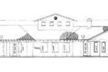 House Blueprint - Mediterranean Exterior - Rear Elevation Plan #72-171