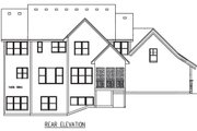 Craftsman Style House Plan - 4 Beds 3.5 Baths 2909 Sq/Ft Plan #56-597 Exterior - Rear Elevation