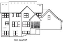 House Plan Design - Craftsman Exterior - Rear Elevation Plan #56-597
