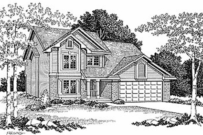 Traditional Exterior - Front Elevation Plan #70-266
