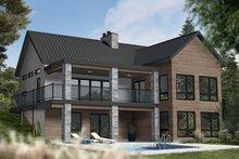House Plan Design - Contemporary Exterior - Rear Elevation Plan #23-2739
