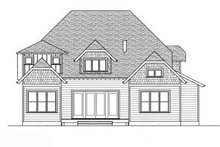 European Exterior - Rear Elevation Plan #413-104