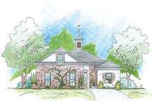 Southern Exterior - Front Elevation Plan #36-434