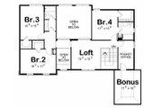 Traditional Style House Plan - 4 Beds 4 Baths 2734 Sq/Ft Plan #20-2184 Floor Plan - Upper Floor Plan