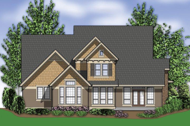 Craftsman Exterior - Rear Elevation Plan #48-262 - Houseplans.com