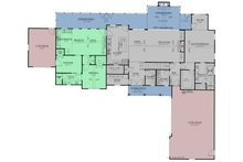 Craftsman Floor Plan - Main Floor Plan Plan #437-111