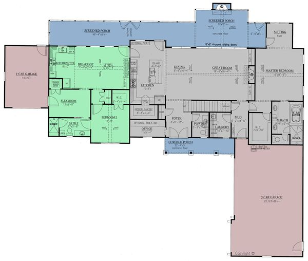 Dream House Plan - Craftsman Floor Plan - Main Floor Plan #437-111