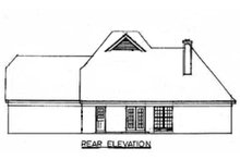 European Exterior - Rear Elevation Plan #34-109