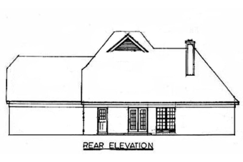 European Exterior - Rear Elevation Plan #34-109 - Houseplans.com