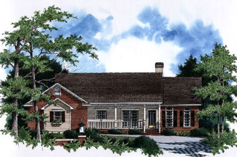 Architectural House Design - Country Exterior - Front Elevation Plan #41-153