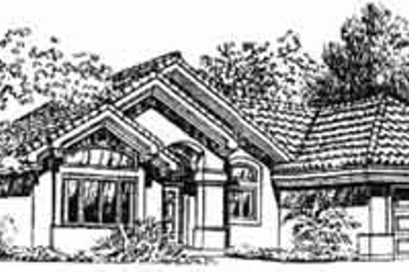 Mediterranean Style House Plan - 3 Beds 2 Baths 1184 Sq/Ft Plan #1-195