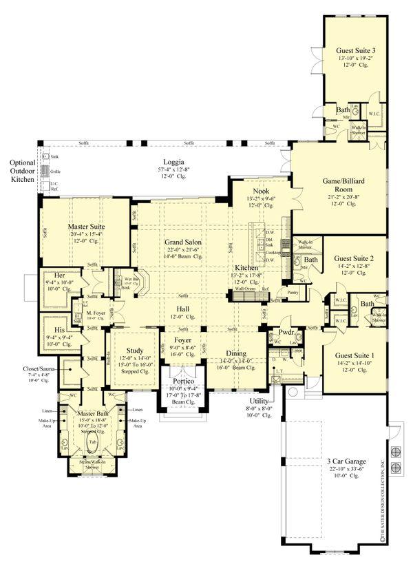 Dream House Plan - Contemporary Floor Plan - Main Floor Plan #930-520