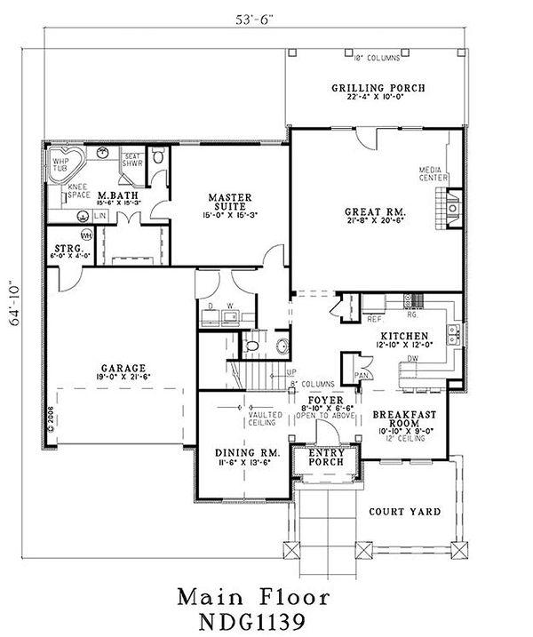 European Floor Plan - Main Floor Plan #17-204
