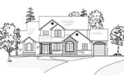 Traditional Style House Plan - 6 Beds 5.5 Baths 3608 Sq/Ft Plan #5-211 Exterior - Other Elevation