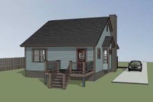 Dream House Plan - Cottage Exterior - Other Elevation Plan #79-139