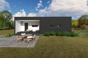 Modern Style House Plan - 1 Beds 1 Baths 681 Sq/Ft Plan #549-7 Exterior - Rear Elevation