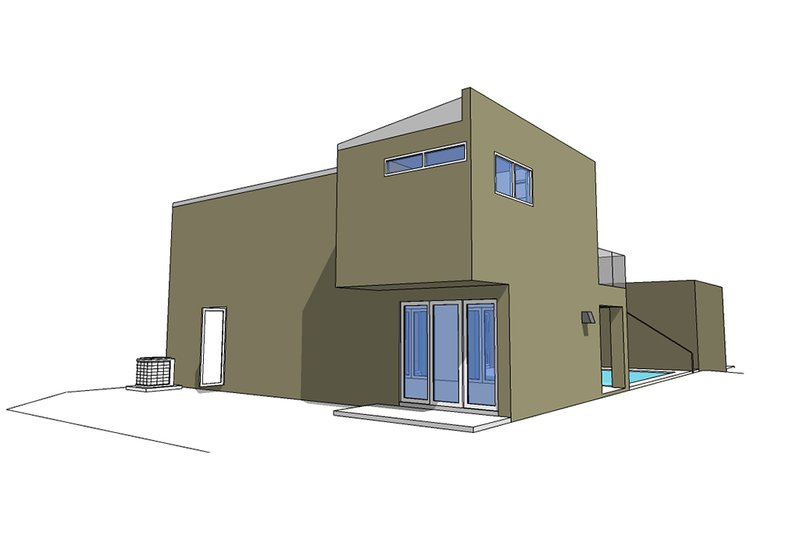 Rear - 2600 square foot Modern home