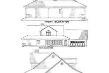 House Plan Design - Southern Exterior - Rear Elevation Plan #17-2190