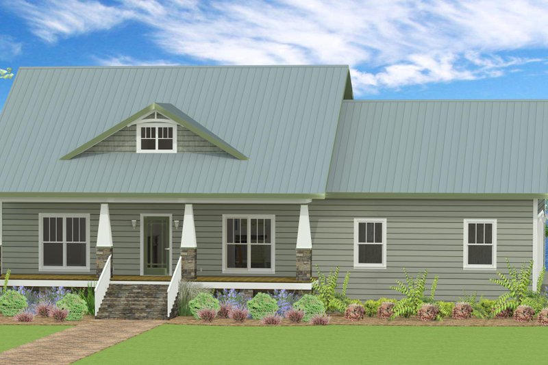 Home Plan - Country Exterior - Front Elevation Plan #44-197