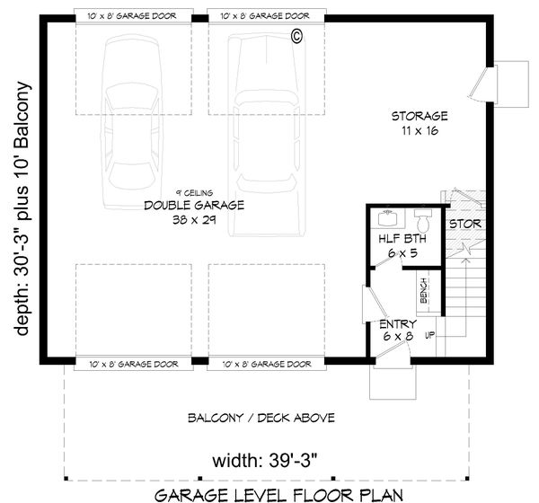 Contemporary Floor Plan - Main Floor Plan #932-256