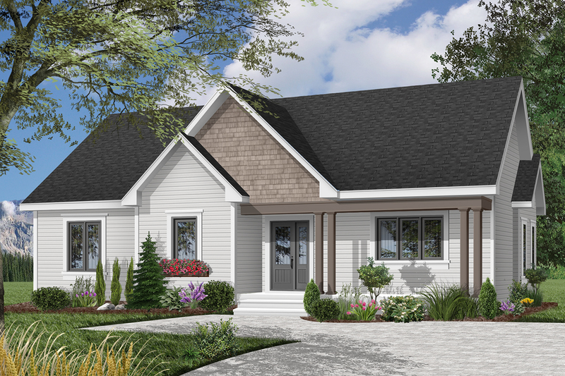 Ranch Exterior - Front Elevation Plan #23-112