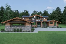 Dream House Plan - Contemporary Exterior - Front Elevation Plan #1070-94