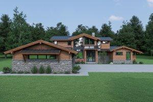 House Plan Design - Contemporary Exterior - Front Elevation Plan #1070-94