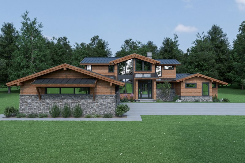 Home Plan - Contemporary Exterior - Front Elevation Plan #1070-94