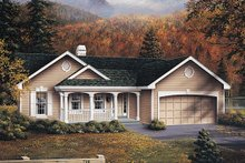 Home Plan - Traditional Exterior - Front Elevation Plan #57-271