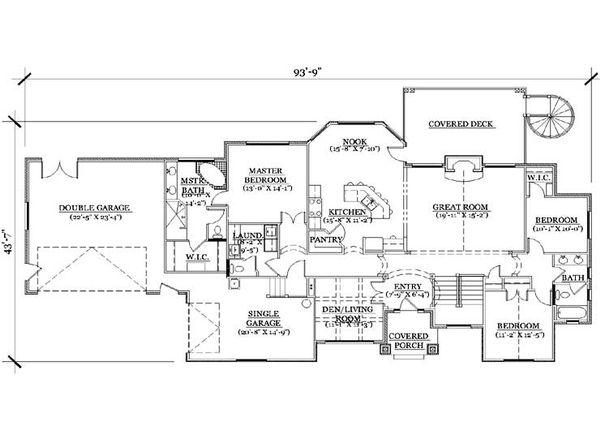 European Floor Plan - Main Floor Plan Plan #5-251