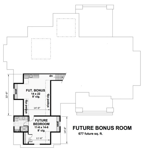 Craftsman Floor Plan - Upper Floor Plan Plan #51-570