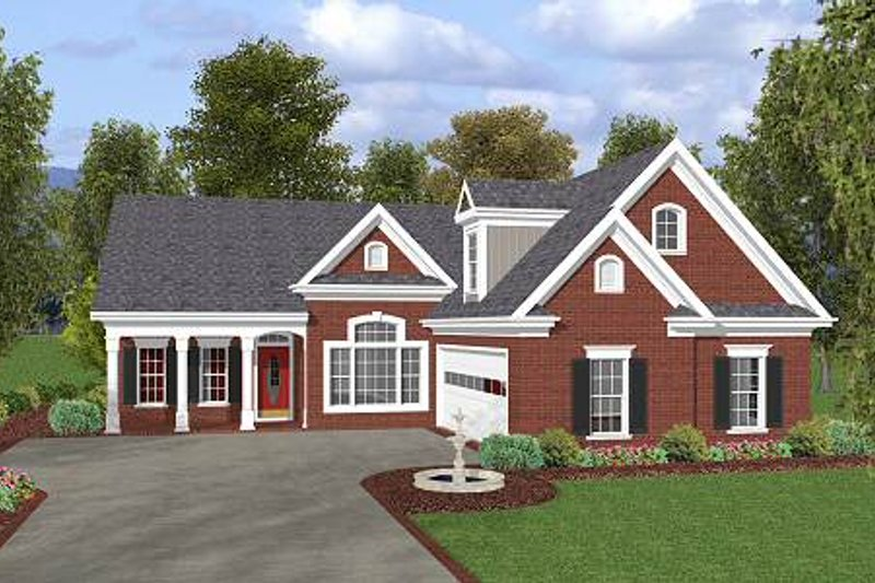 Southern Exterior - Front Elevation Plan #56-549 - Houseplans.com