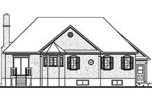 Home Plan Design - European Exterior - Rear Elevation Plan #23-130