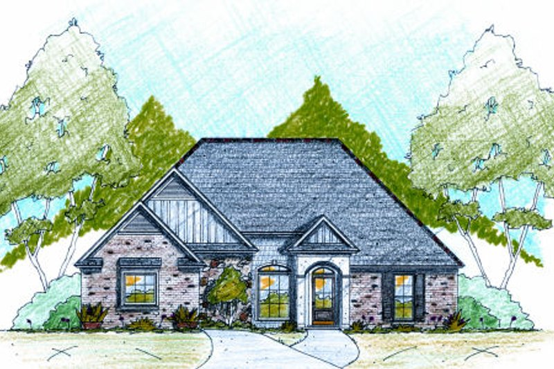 European Exterior - Front Elevation Plan #36-481
