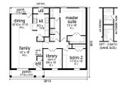 Traditional Style House Plan - 2 Beds 1 Baths 1244 Sq/Ft Plan #84-576 Floor Plan - Main Floor Plan