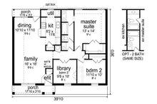 Traditional Floor Plan - Main Floor Plan Plan #84-576