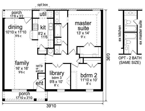 Traditional Floor Plan - Main Floor Plan #84-576