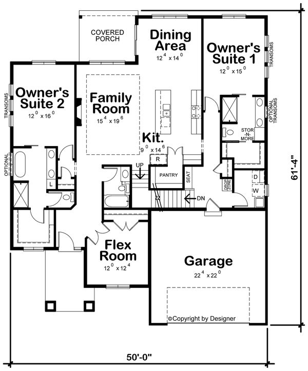 Dream House Plan - Contemporary Floor Plan - Main Floor Plan #20-2428