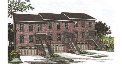 Traditional Style House Plan - 3 Beds 2.5 Baths 5420 Sq/Ft Plan #20-629 Exterior - Front Elevation