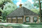 European Style House Plan - 0 Beds 0 Baths 973 Sq/Ft Plan #17-2583 Exterior - Front Elevation