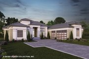 Contemporary Style House Plan - 4 Beds 4 Baths 4460 Sq/Ft Plan #930-520 Exterior - Front Elevation